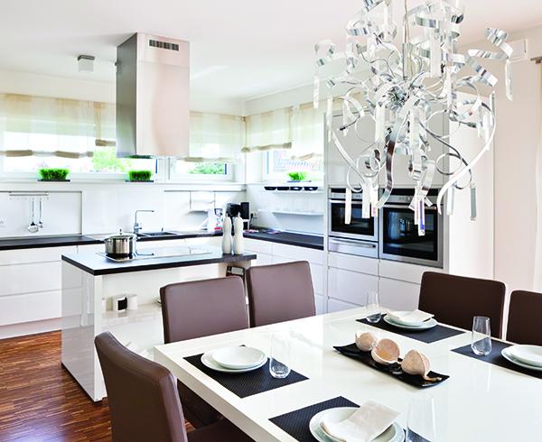 Modern house, Interior of modern kitchen room