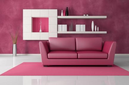 wallpaper dinding ruang tamu minimalis pink Serbaguna -