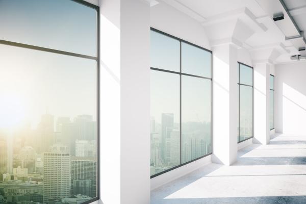 54116152 - empty office interior with window, 3d rendering