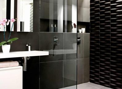 caillebotis salle de bain teck ba±os blanco negro decoracionba±osmodernos decoraciondeba±os