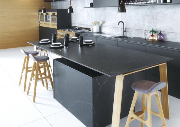 Silestone® Eternal Charcoal Soapstone _ Kitchen