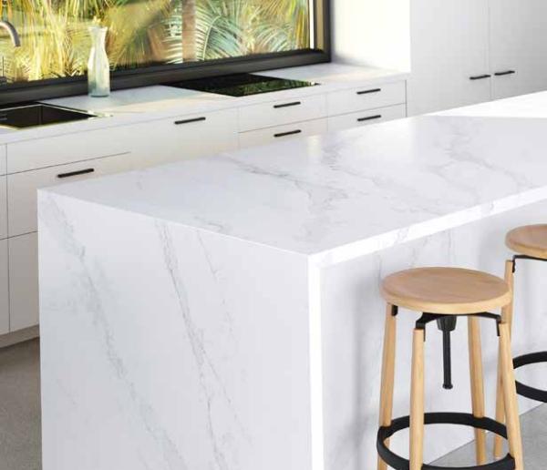 Calacatta Gold de COSENTINO combina la estética del mármol con las ventajas del cuarzo