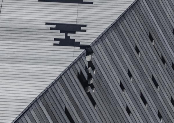 9. Lateral Sloped facade