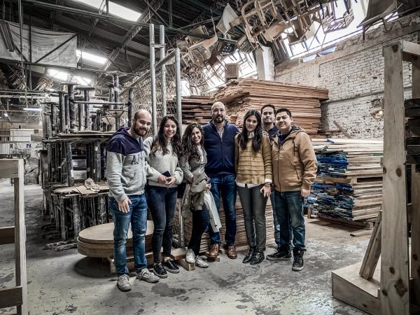 Parte de los ganadores en taller de fabricación de Aydia