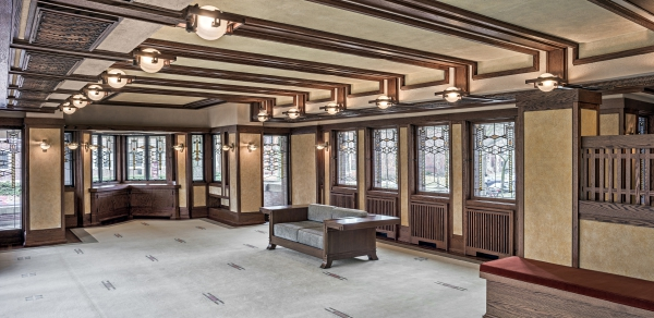 Robie-House-living-area_photo-by-James-Caulfield_courtesy-of-Frank-Lloyd-Wright-Trust